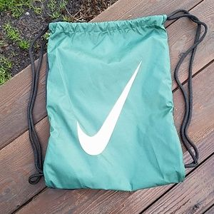 Nike Green and Black Drawstring Backpack
